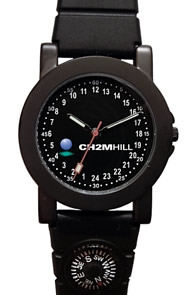 Militarytime 24 hour dial with Date - Specialty Style Promotional Watch 1039M24-KK12T