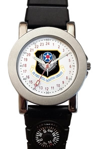 Militarytime 24 hour dial with Date - Specialty Style Promotional Watch 1039M24-PWC