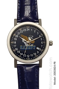 Militarytime 24 hour dial with Date - Specialty Style Promotional Watch 2003B24-PB