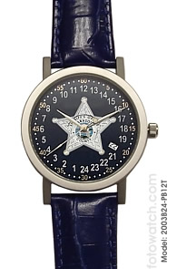Militarytime 24 hour dial with Date - Specialty Style Promotional Watch 2003B24-PB12T