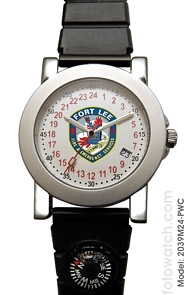 Militarytime 24 hour dial with Date - Specialty Style Promotional Watch 2039M24-PWC