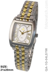 IP Gold Silver Plated Two-Tone Corporate Premium Ladies Watch qa-1G-04LSYW