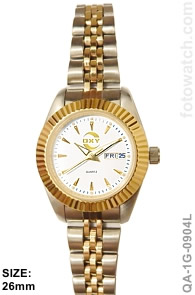 IP Gold Silver Plated Two-Tone Corporate Premium Watch qa-1G-0904L