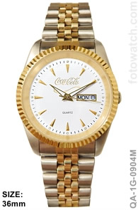IP Gold Silver Plated Two-Tone Corporate Premium Watch qa-1G-0904M