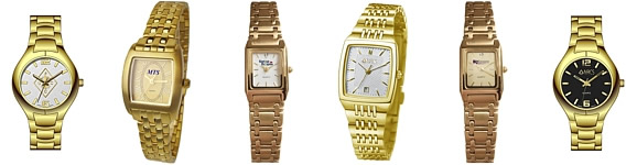 Stainless Steel Gold Ladies Logo Watches